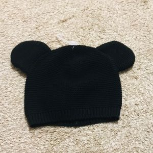 08e6e37f941 GAP Accessories - Baby Gap Disney Black Mickey Mouse Knit Hat